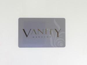 PVC Werbe Karte